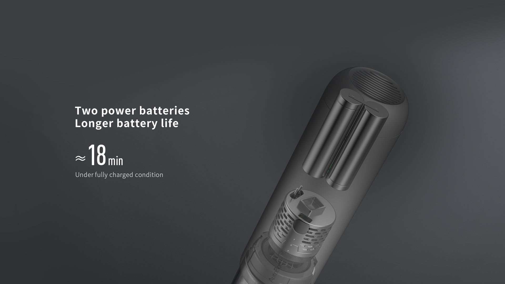 Two power batteries long battery life 18min