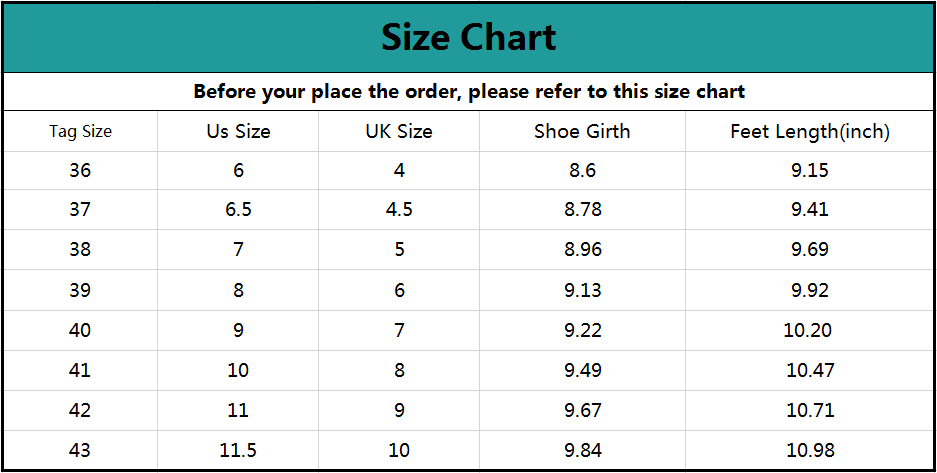 Akk Large Size Women's Walking Tennis Shoes Size Chart