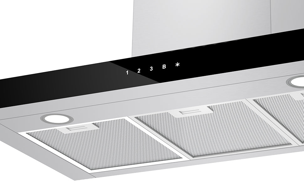 CIARRA 90cm Wall Mount Cooker Hood with Touch Control CBCS9102-OW