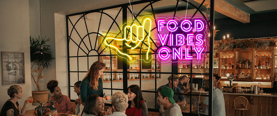 Food vibes only Neon lights