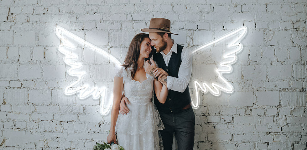 Angelic Wings personalised neon sign