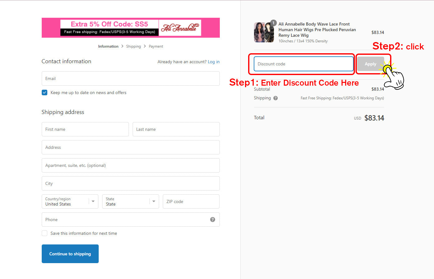 How To Use Discount on PC