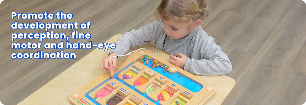 Promote the development of perception, fine motor and hand-eye coordination