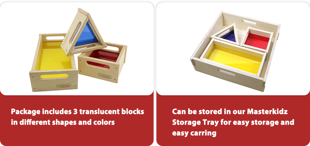 Can be stored in our Masterkidz Storage Tray for easy storage and easy carring