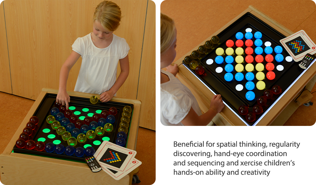 Beneficial for spatial thinking, regularity discovering, hand-eye coordination and sequencing and xercise children's hands-on ability and creativity