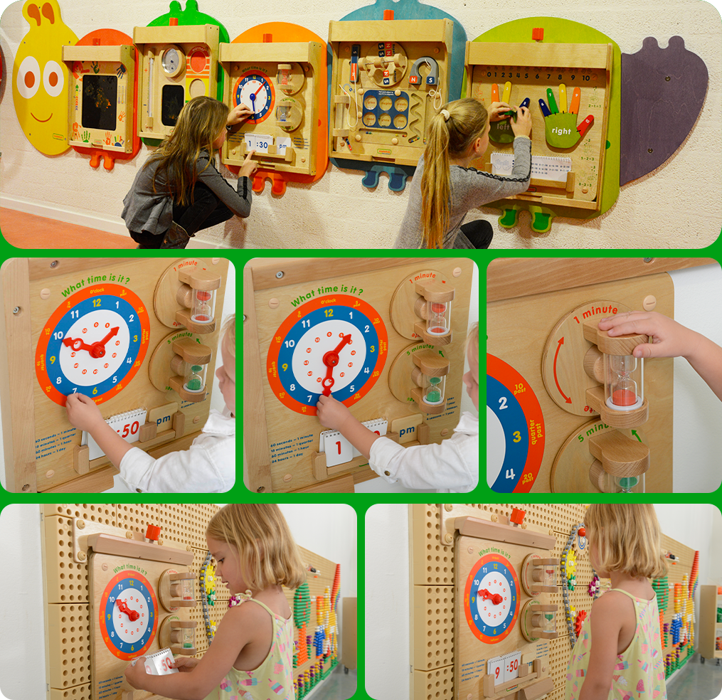 Making time an abstract concept more vivid and concrete in children's brain
