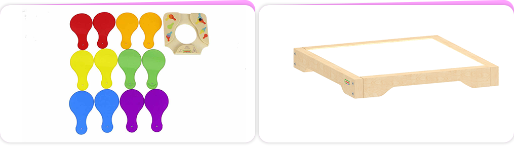 Recommended to use with Masterkidz LED Light Box