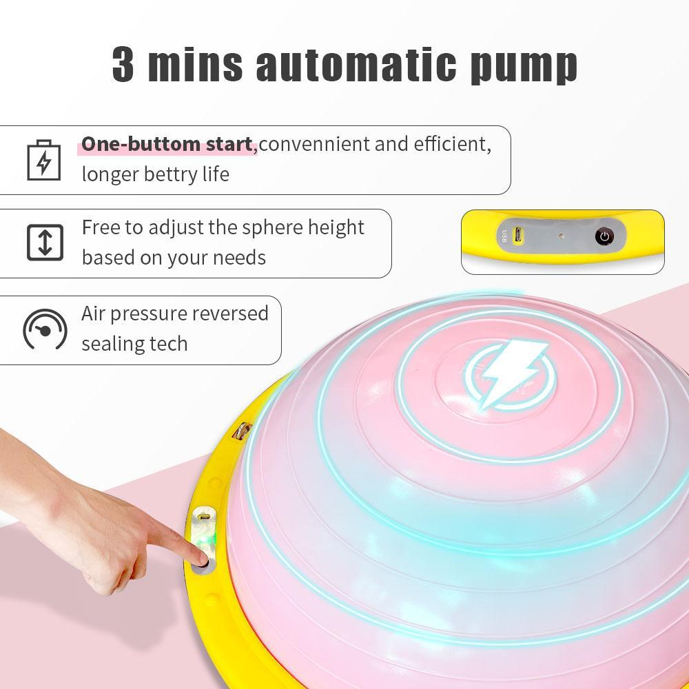 half exercise ball workouts with 3 mins automatic pump