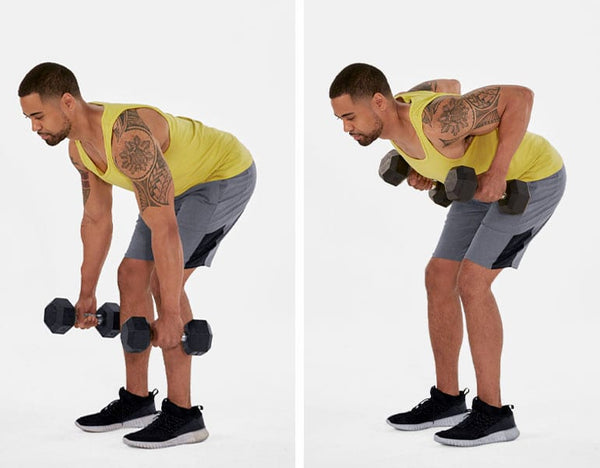 Dumbbell rowing