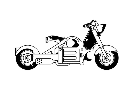 motto bike tattoo design