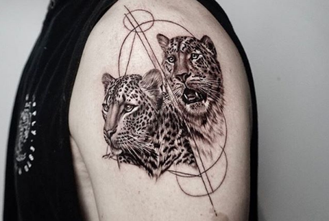 leopard panther tattoo design