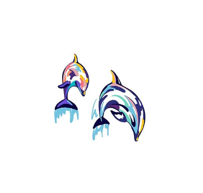 watercolor dolphin tattoo