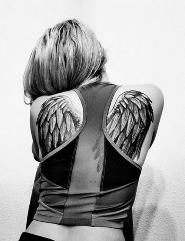 Angel Wing Tattoo on the back