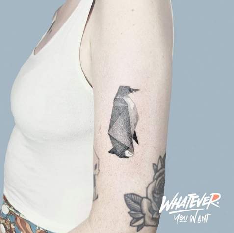 Japanese Origami Penguin Tattoo
