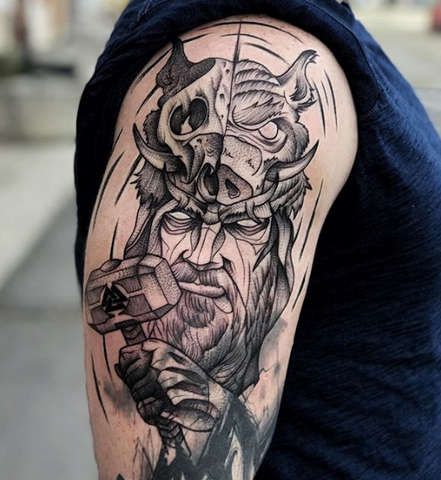 Greek Mythology Tattoo Design