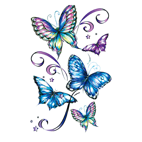 colorful butterfly design idea