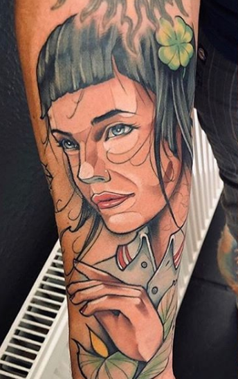 lady portrait tattoo