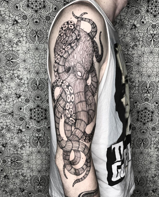 octopus arm tattoo