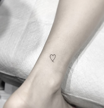 tiny heart tattoo for girls