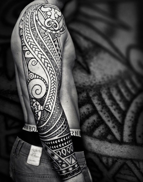 tribal sleeve tattoo for men and women