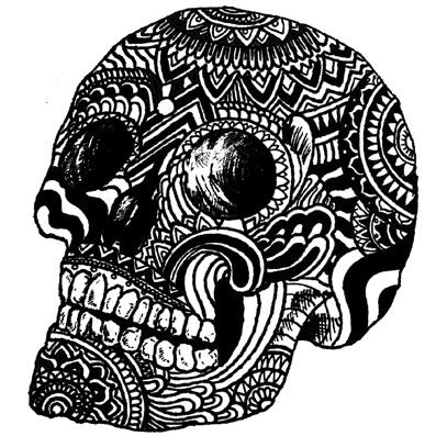halloween skull tattoo