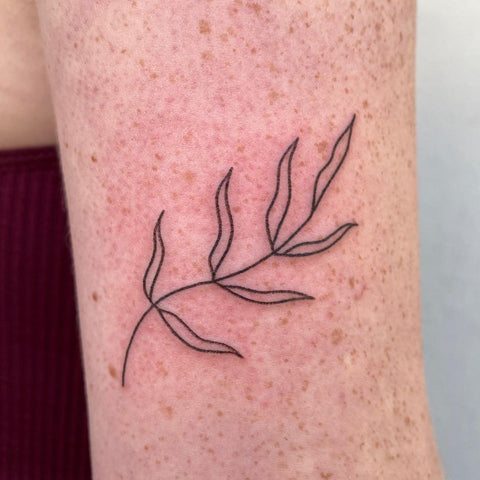simple leaf tattoo design