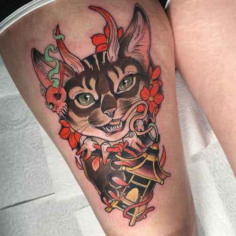 gorgeous cat tattoo