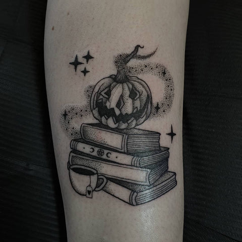 halloween pumpkin tattoo