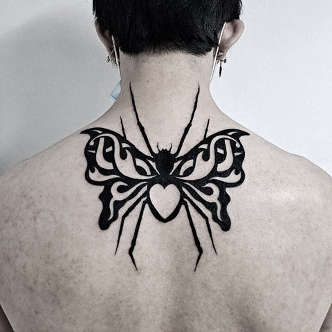 spider butterfly tattoo