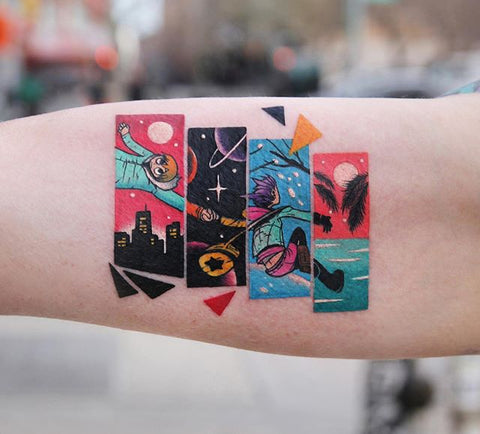anime special tattoo on forearm