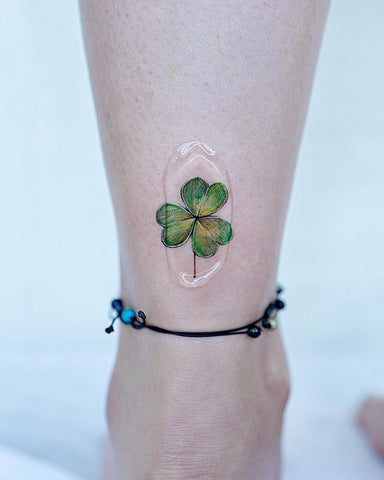 clover ankle tattoo design