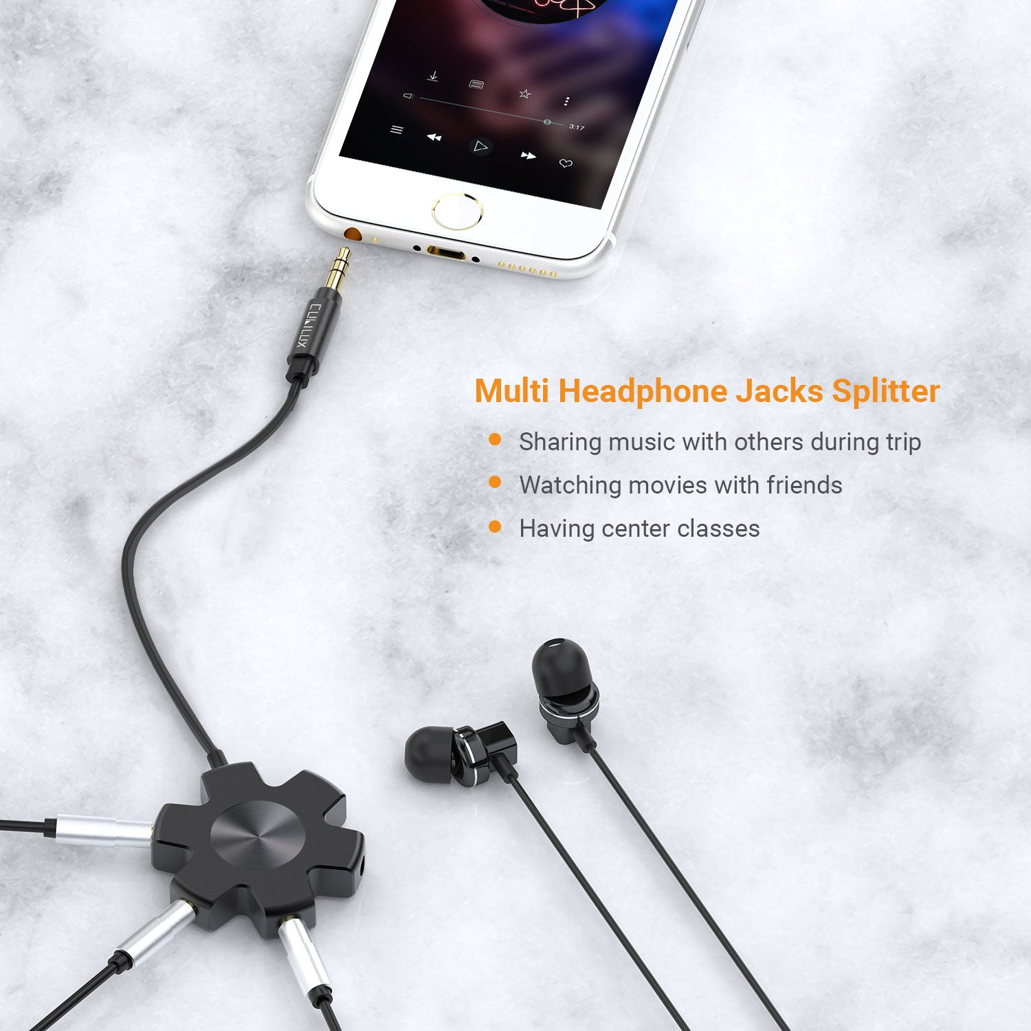 5 Jacks Headphone Splitter