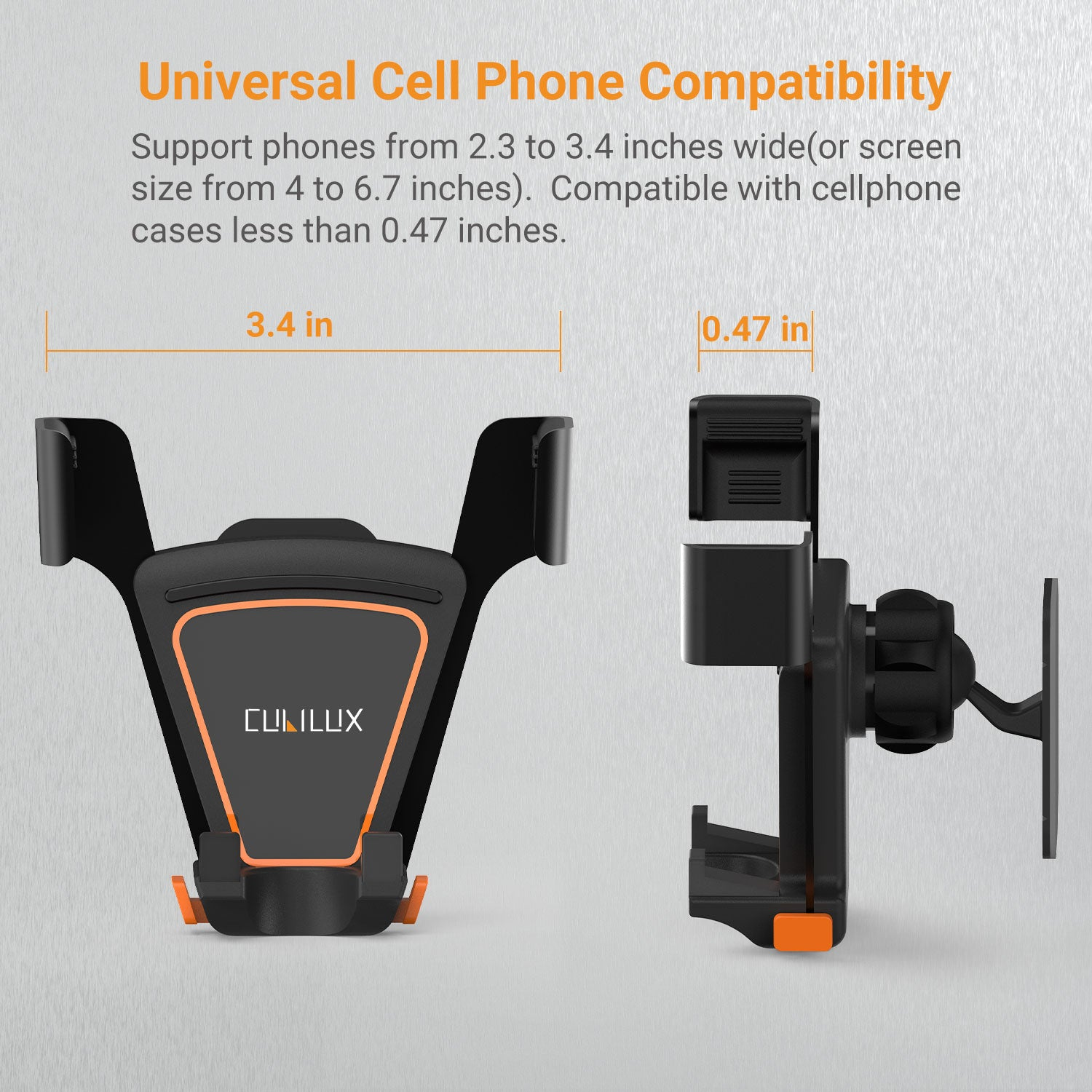Fit for Large Screen Phones with Case On