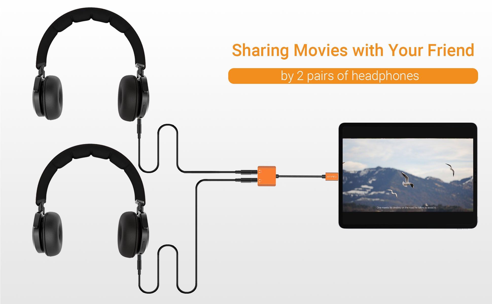 Great For Sharing Audio With Your Friends By Two Headphones