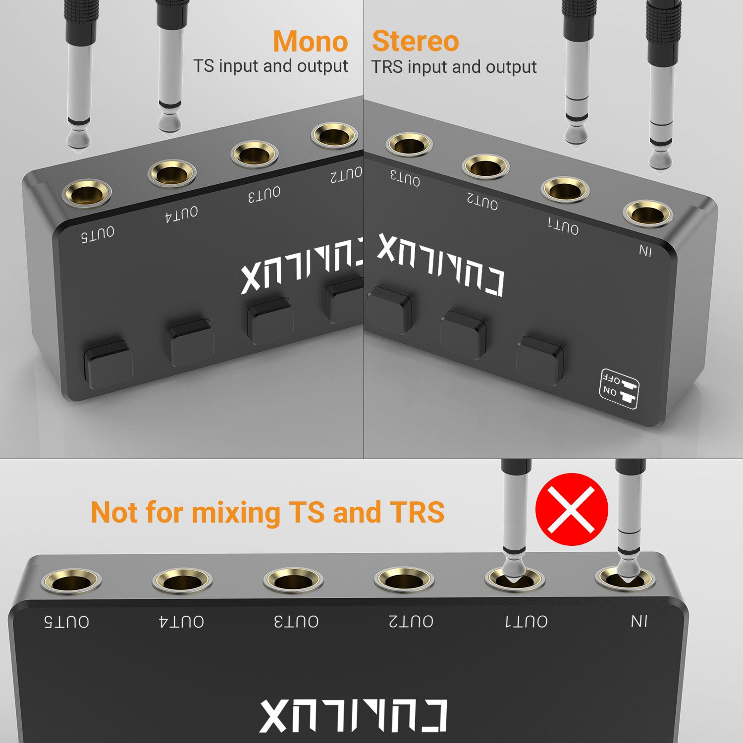 Support Both TS and TRS Cables
