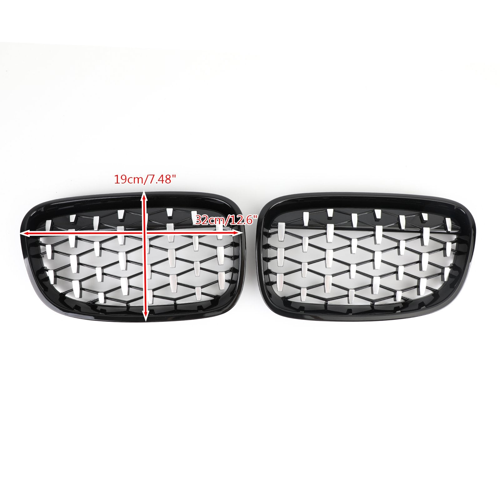 Black & Chrome Front Bumper Cover Grille Fit 12-14 BMW 1Series F20 116i 118i Generic