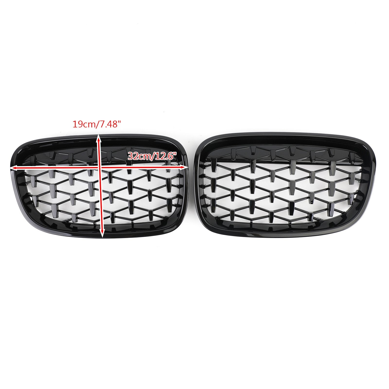 Meteor Black Front Bumper Cover Grille Fit 2012-2014 BMW 1Series F20 116i 118i Generic