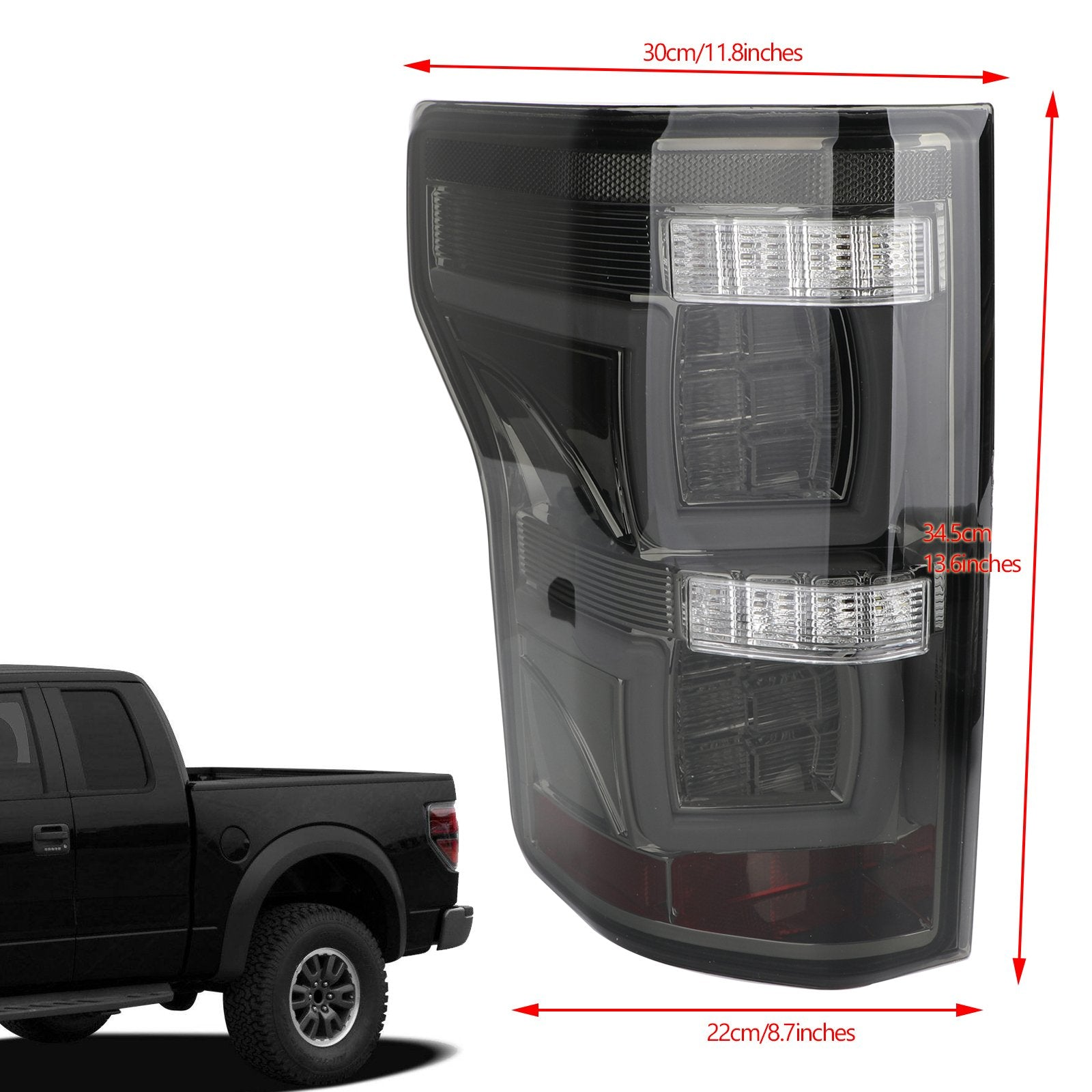 LED Bar Parking Tail Lights Brake Lamps Fit Ford 2015-2019 F150 Pickup Red Generic