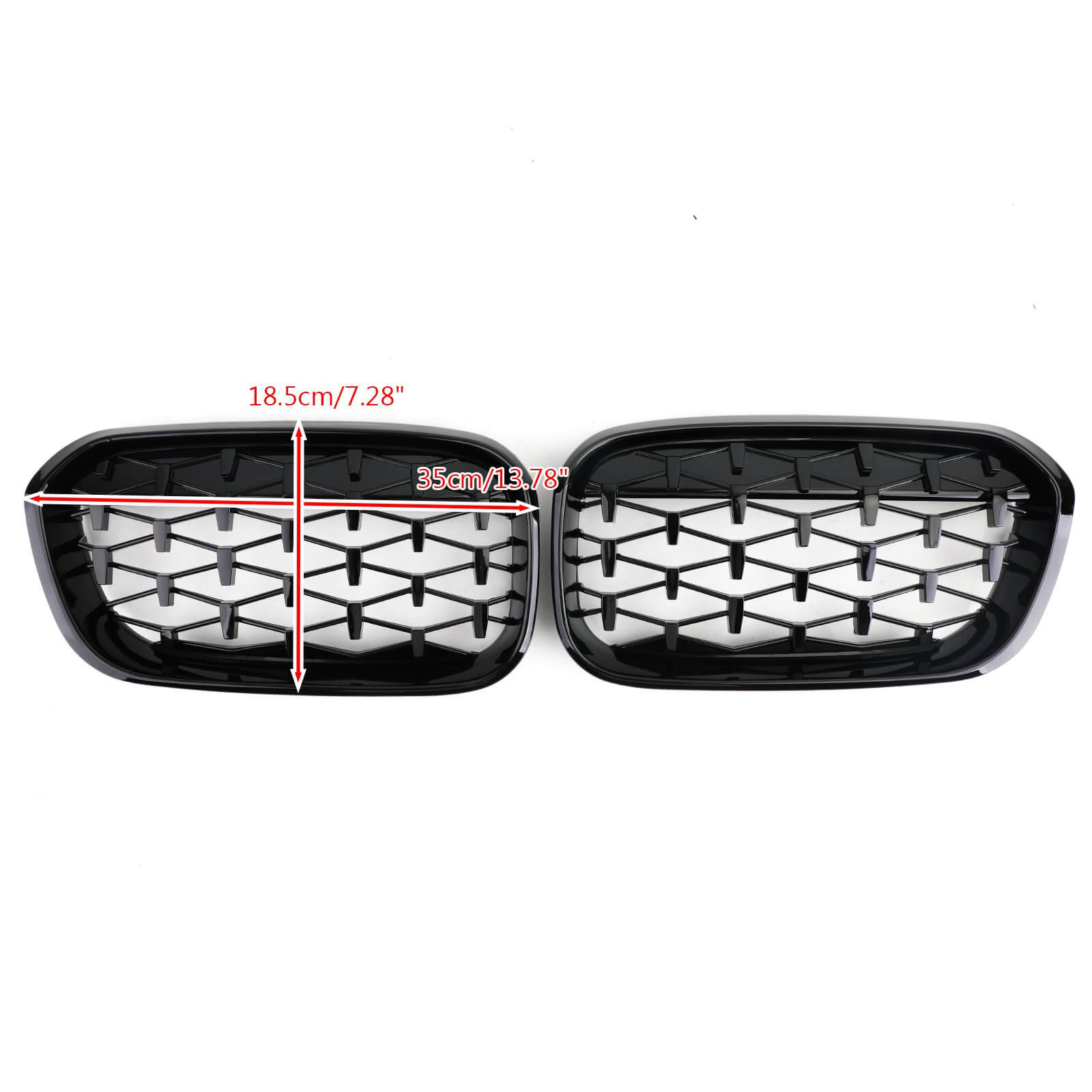 Meteor Black Front Kidney Grille For2015-2017 BMW 1 Series F20/F21 Generic