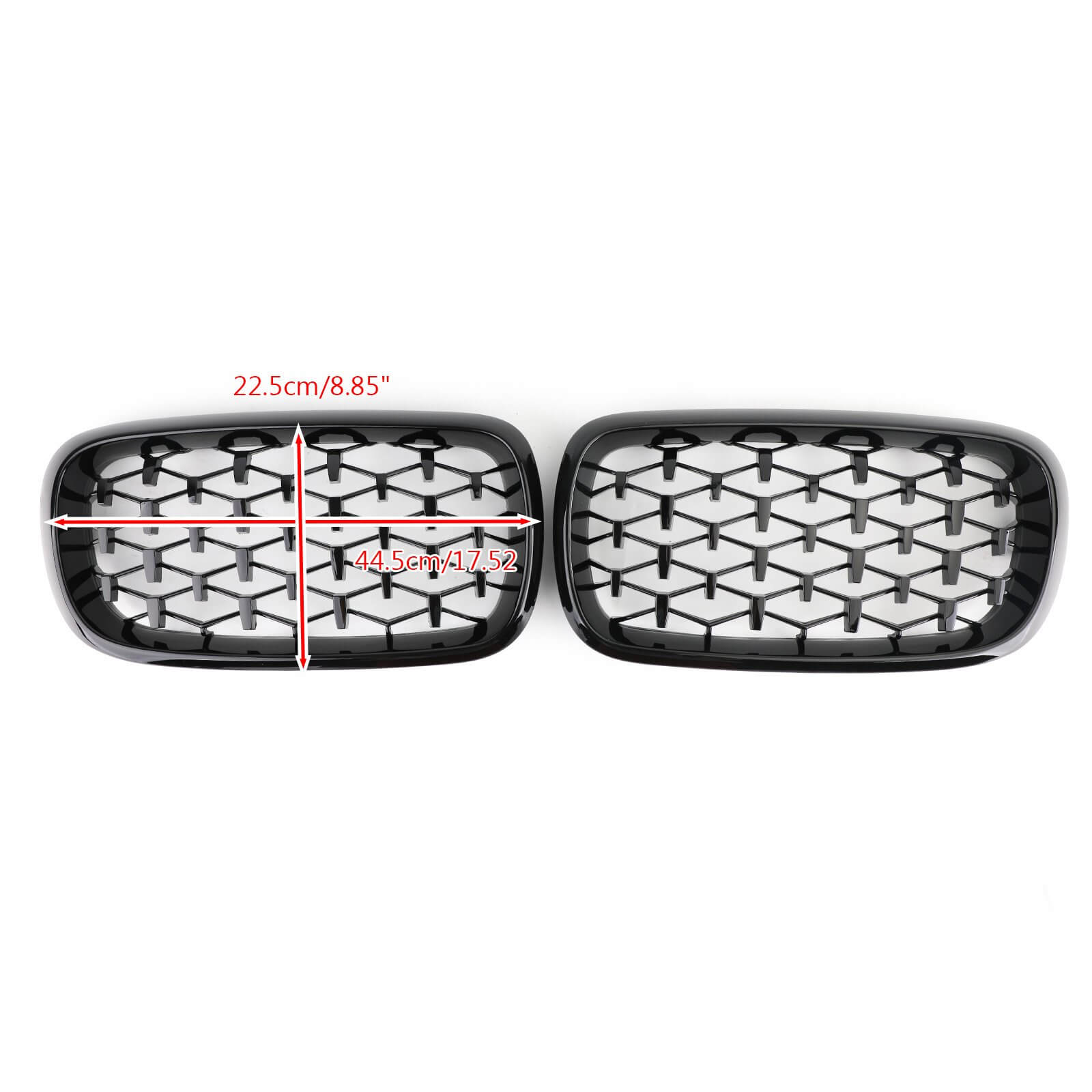 Meteor Black Front Kidney Grille Grill For 2014-2016 BMW X5 F15 Generic
