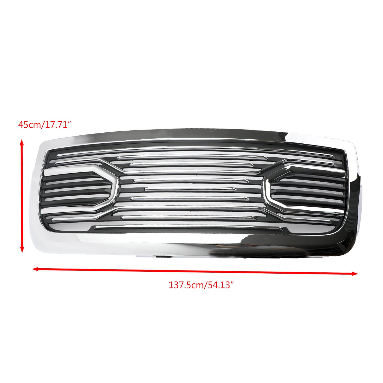 2010-2018 Ram 2500/3500 Big Horn Chrome Packaged Grille+Replacement Shell Generic