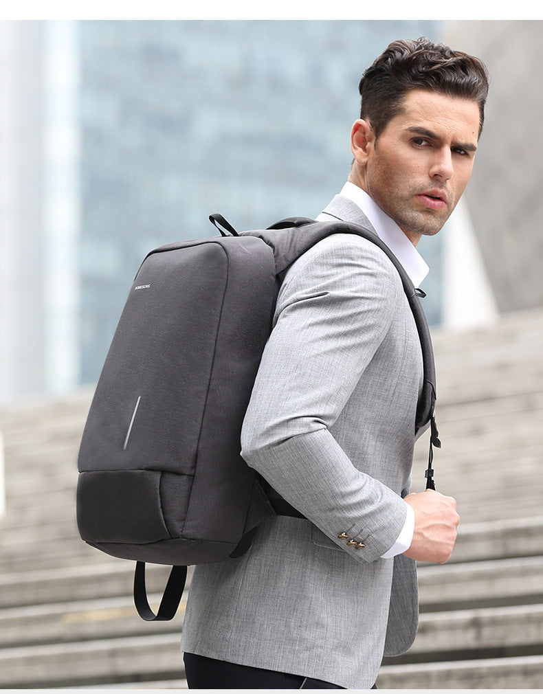 Kingsons high-quality anti-theft 15.6-inch backpack invites internet celebrities to assist in shooting promotion