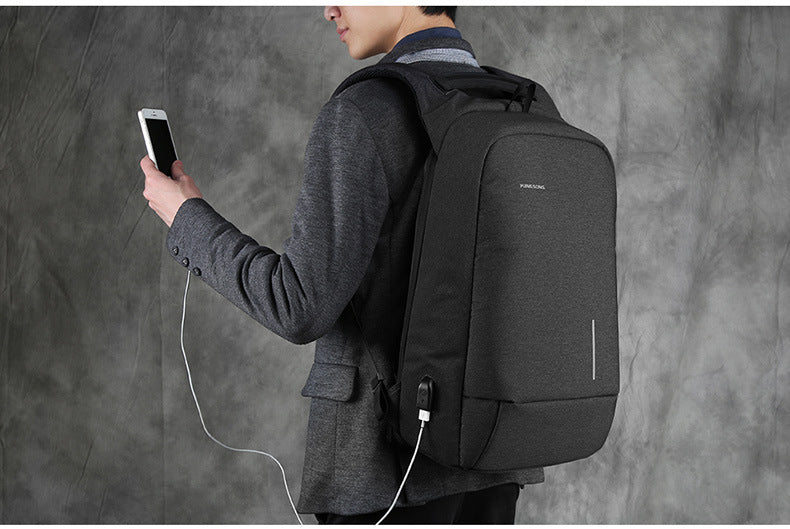 When charging the phone, you can connect the external USB charging function and the built-in data cable to the phone. kingsons anti-theft backpack