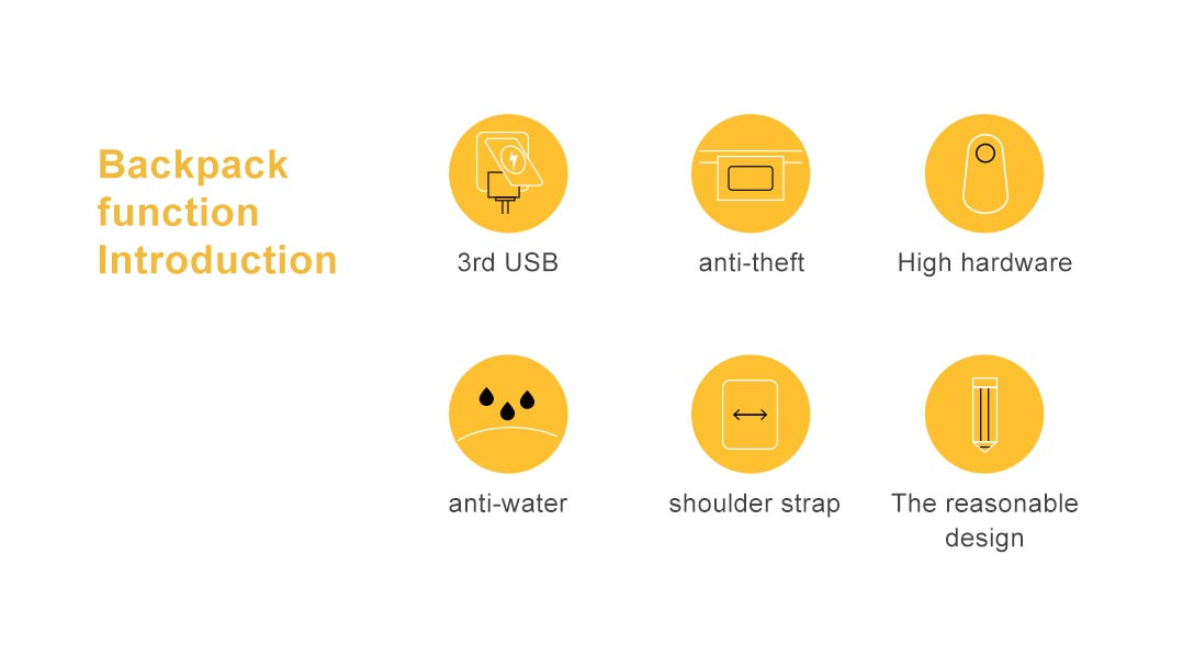 6 major functions of kingsons yoga bag, function,3rd USB, Highhardware,anti-theft,anti-water, The reasonable design