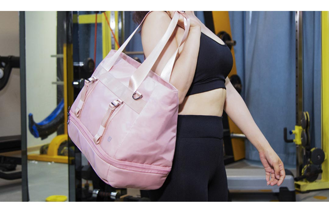 Kingsons pink yoga bag show effect