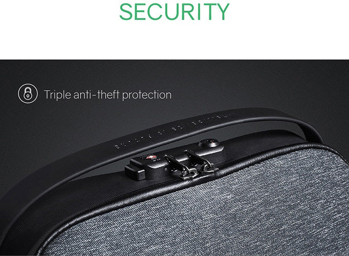 SECURITY Triple anti-theft protection - KORIN Design FlexPack-kingsons backpack