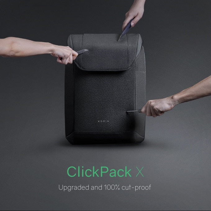 Korin ClickPack X-simple and practical anti-theft backpack