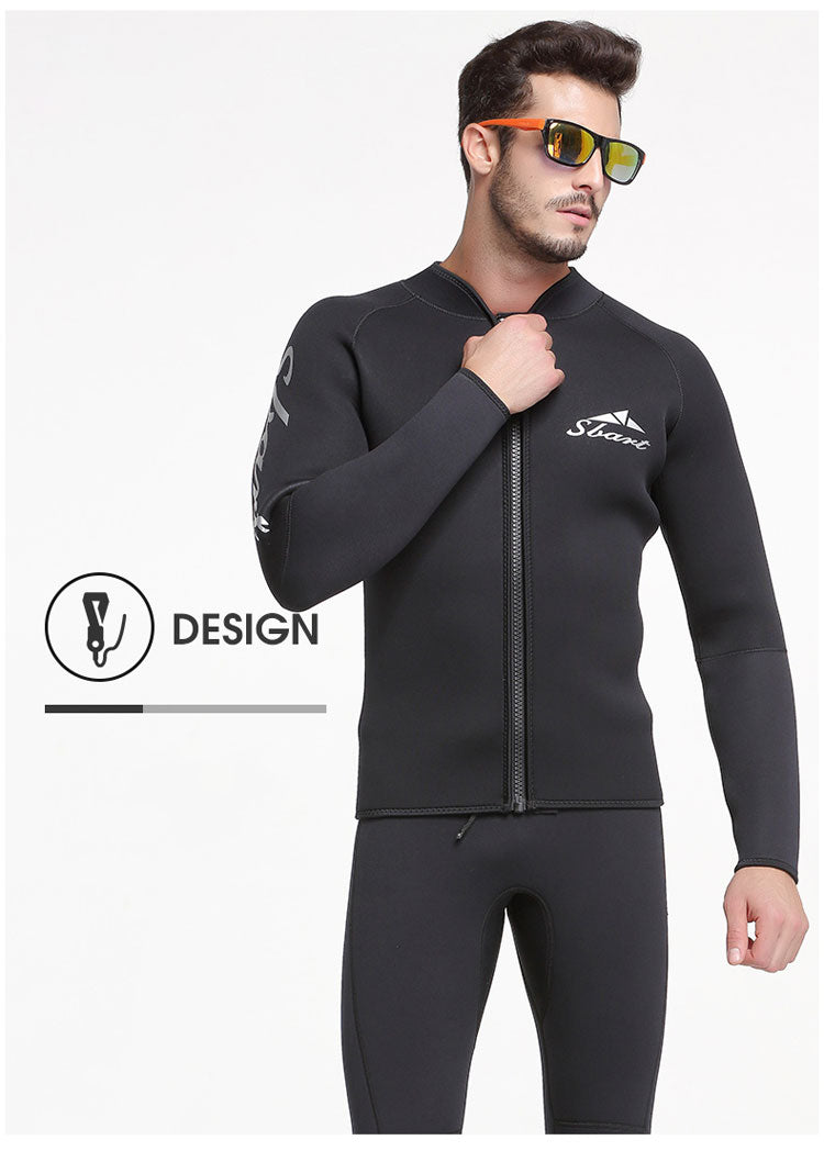 black wetsuit open cell freediving suit