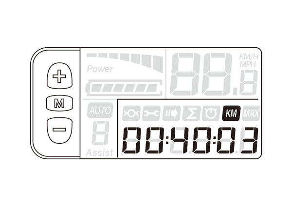 odometer is showing on the display of a kbo breeze step-thru