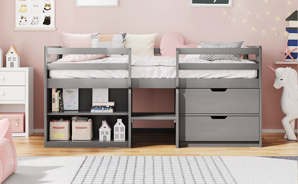 loft bed with drawer